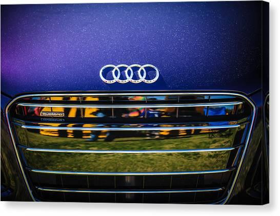 Audi Canvas Print - Audi Grille Emblem -2333c by Jill Reger