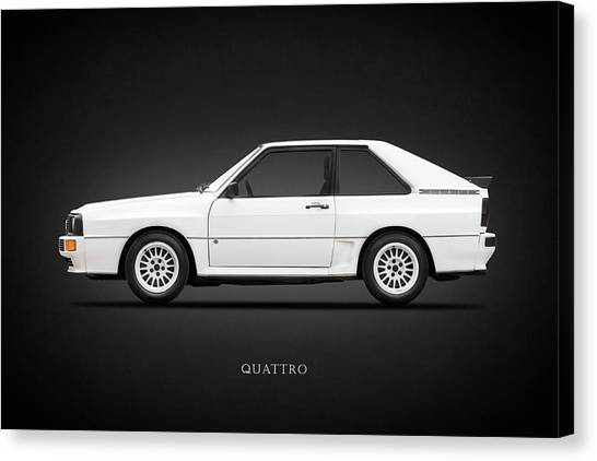 Audi Canvas Print - Audi Quattro 1985 by Mark Rogan