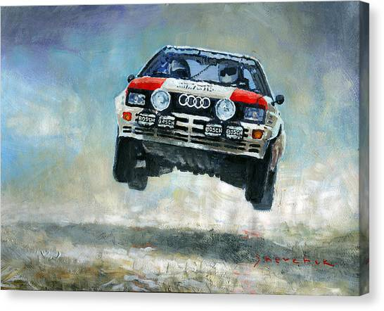 Supplies Canvas Print - Audi Quattro Gr.4 1982 by Yuriy Shevchuk