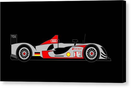 Audi R15 Canvas Print by Asbjorn Lonvig