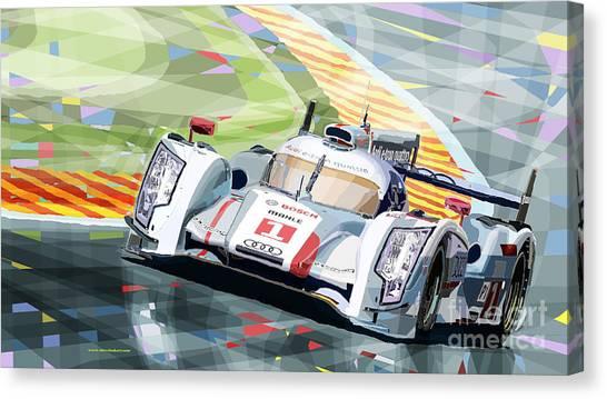 Racing Canvas Print - Audi R18 E-tron Quattro by Yuriy Shevchuk