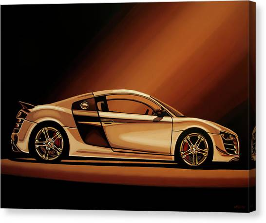 Audi Canvas Print - Audi R8 2007 Painting by Paul Meijering