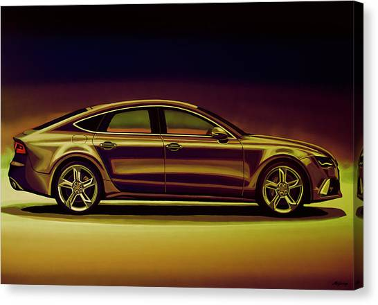 Race Cars Canvas Print - Audi Rs7 2013 Mixed Media by Paul Meijering