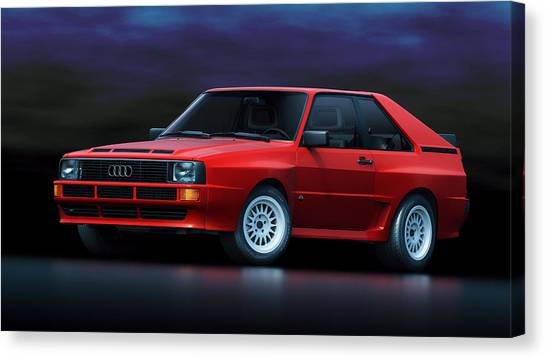 Audi Canvas Print - Audi Sport Quattro by Marc Orphanos