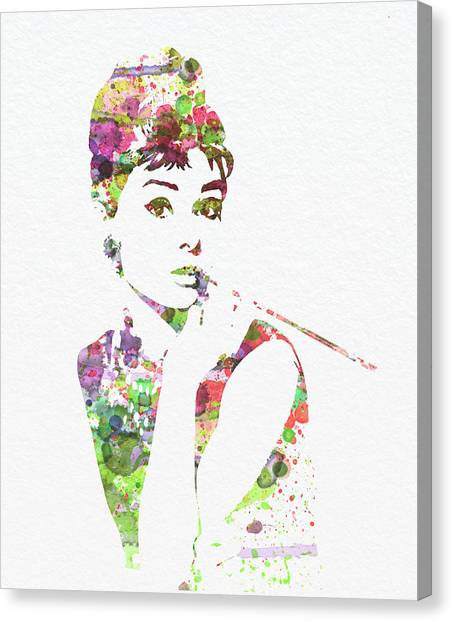 Celebrity Canvas Print - Audrey Hepburn 2 by Naxart Studio