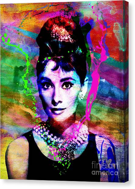 Hepburn Canvas Print - Audrey Hepburn Art by Ryan Rock Artist