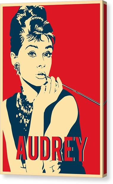 75b5966654d Audrey Hepburn Pop Art Canvas Print - Audrey Hepburn Hope Pop Art by Carlos  V