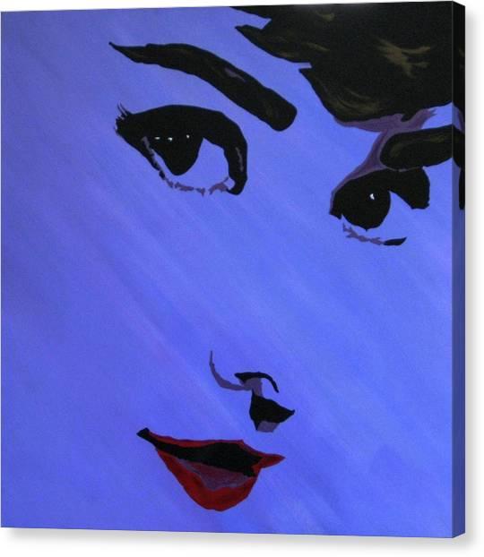 Audrey Hepburn-eyes For You Canvas Print