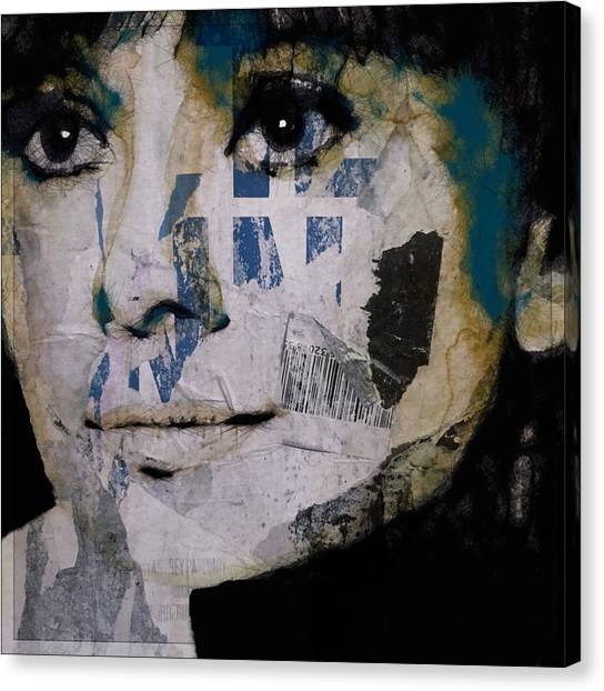 Hepburn Canvas Print - Audrey Hepburn  by Paul Lovering