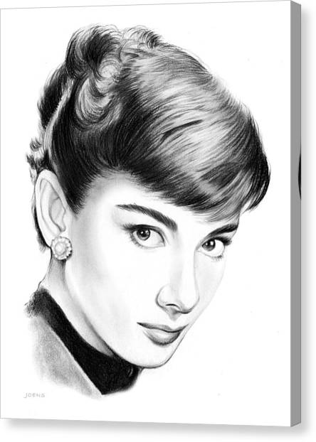 Actors Canvas Print - Audrey Hepburn by Greg Joens