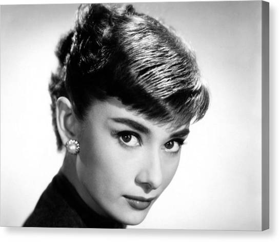 Audrey Hepburn Canvas Print - Audrey Hepburn by Maye Loeser