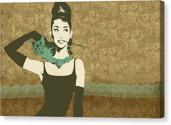 Audrey Hepburn Canvas Print - Audrey Hepburn by Super Lovely