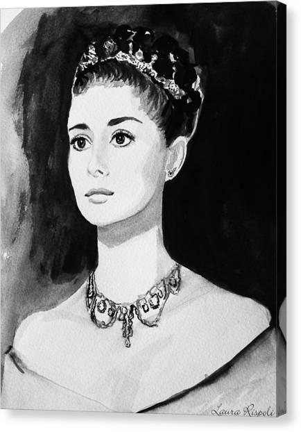 Audrey Canvas Print by Laura Rispoli