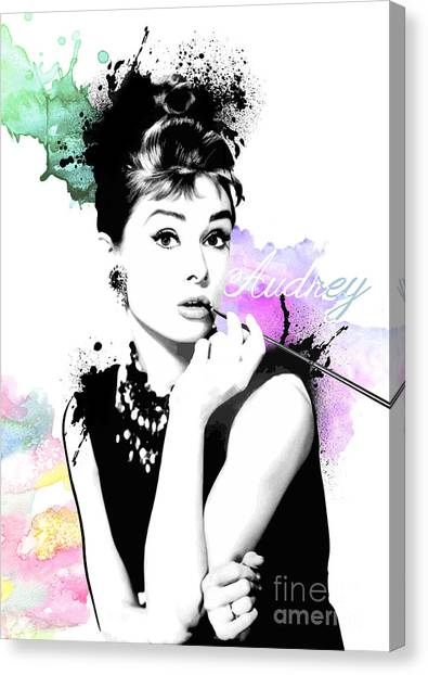 Audrey Hepburn Canvas Prints (Page #13 of 23) | Fine Art America