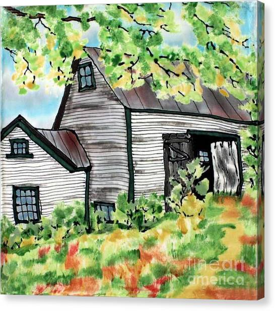 August Barn Canvas Print by Linda Marcille