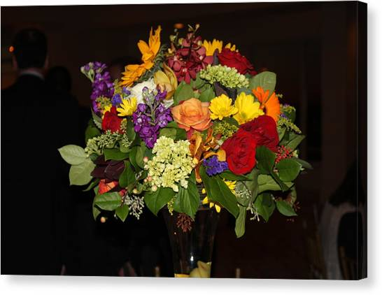 August Bouquet Canvas Print by Lyn Vic