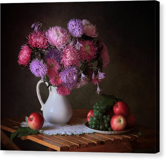 Desks Canvas Print - August Gifts Of The Garden by ??????? ????????