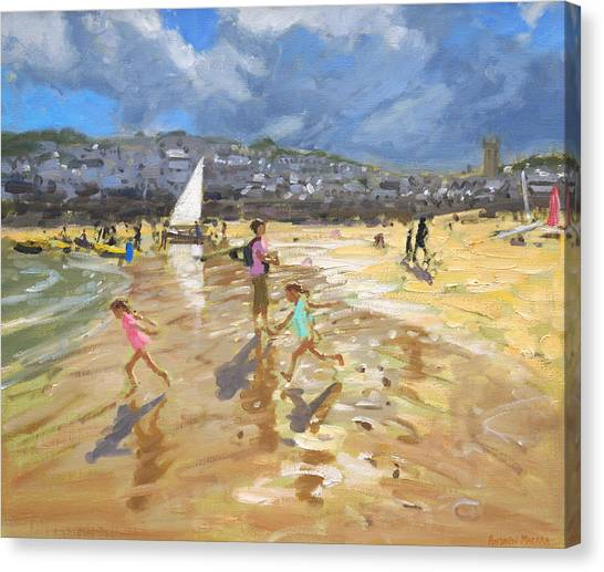 St Ives Canvas Print - August In St Ives by Andrew Macara