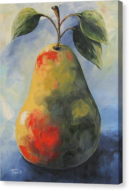 August Pear Canvas Print by Torrie Smiley