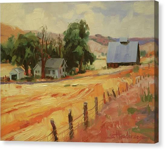 Harvest Canvas Print - August by Steve Henderson