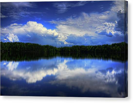 August Summertime On Buck Lake Canvas Print