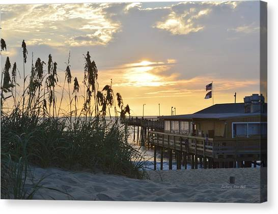 August Sunrise On The Obx  Canvas Print