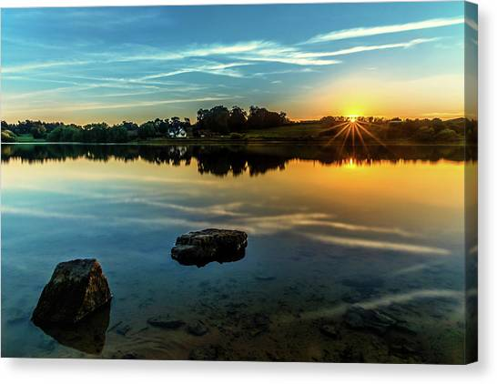 Canvas Print featuring the photograph August Sunset by Nick Bywater