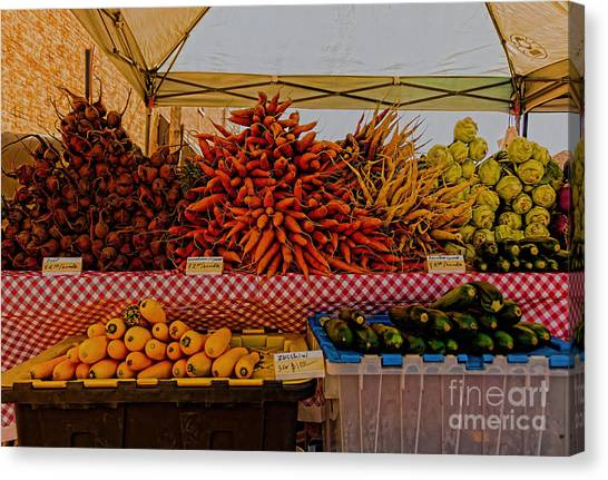 August Vegetables Canvas Print