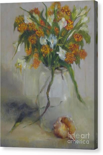 August Wildflowers        Copyrighted Canvas Print by Kathleen Hoekstra