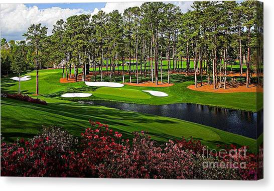 Augusta National Gc #16 Canvas Print