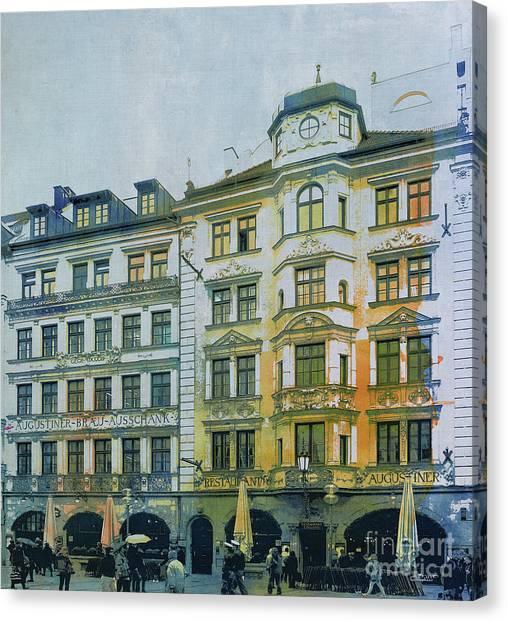 Creative Manipulation Canvas Print - Augustiner Munich by Jutta Maria Pusl