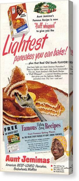 Aunt Jemima Pancakes Canvas Print