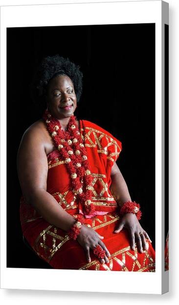 Aunty Jeanette Canvas Print by Celebration Of African Women By Nubian Nights Out