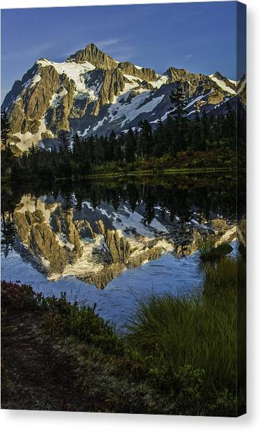 Aunumn Mountain Reflection Canvas Print