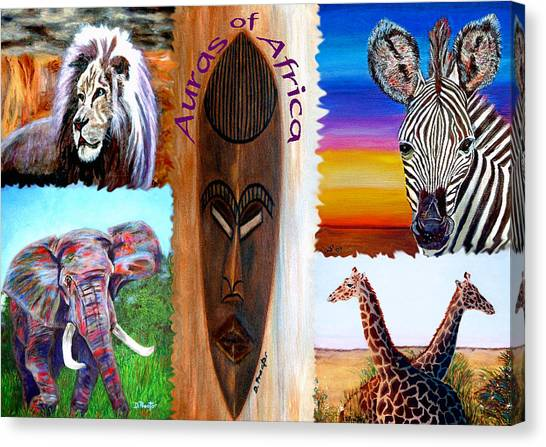 Auras Of Africa Canvas Print