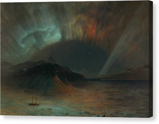 American Painters Canvas Print - Aurora Borealis by Frederic Edwin Church