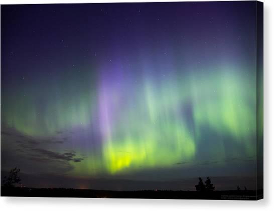 Aurora Borealis Canvas Print - Aurora Borealis In Noux by Janne E Sievinen