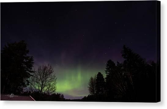 Lightshow Canvas Print - Aurora Borealis Northern Lights by Torbjorn Swenelius