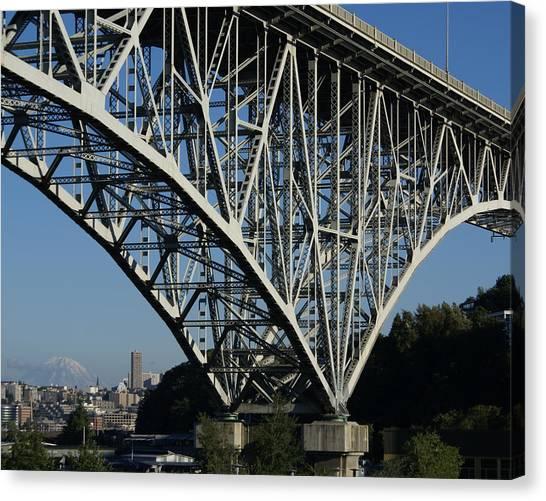 Aurora Bridge - Seattle Canvas Print by Sonja Anderson