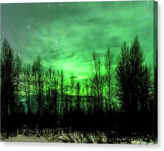 Aurora In The Clouds Canvas Print