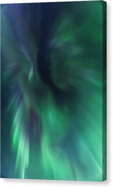Aurora Kaleidoscope Canvas Print