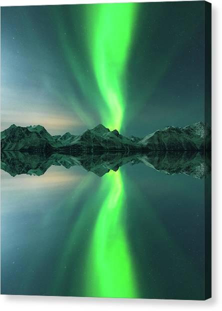 Aurora Borealis Canvas Print - Aurora Powersurge by Tor-Ivar Naess