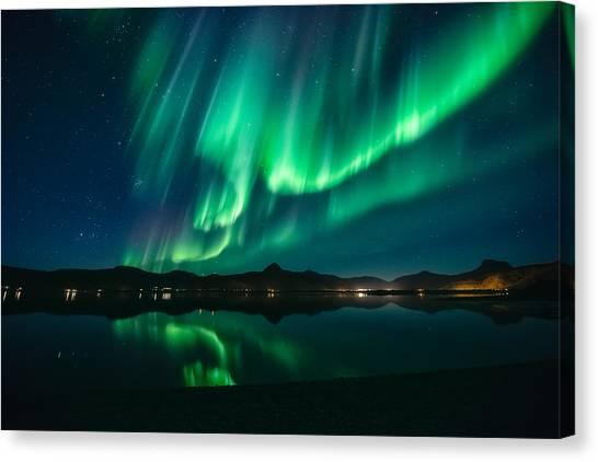 Aurora Borealis Canvas Print - Aurora Surprise by Tor-Ivar Naess