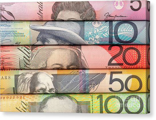 Canvas Print - Aussie Dollars 06 by Rick Piper Photography