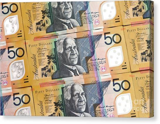 Canvas Print - Aussie Dollars 07 by Rick Piper Photography