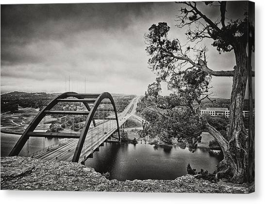 Austin Texas Canvas Print - Austin 360 Bridge In Early Dawn by Lisa Spencer