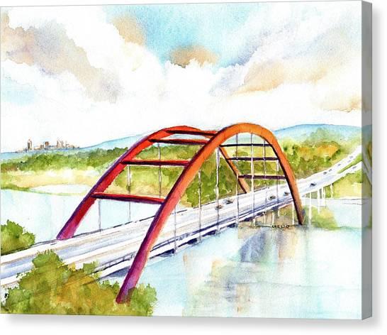 Austin 360 Bridge - Pennybacker Canvas Print