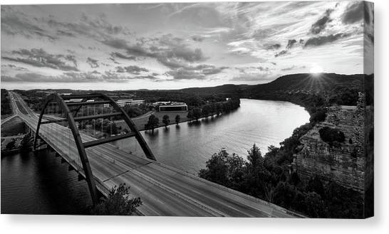 Austin 360 Pennybacker Bridge Sunset Canvas Print