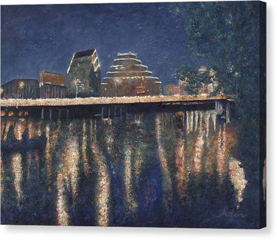Austin At Night Canvas Print