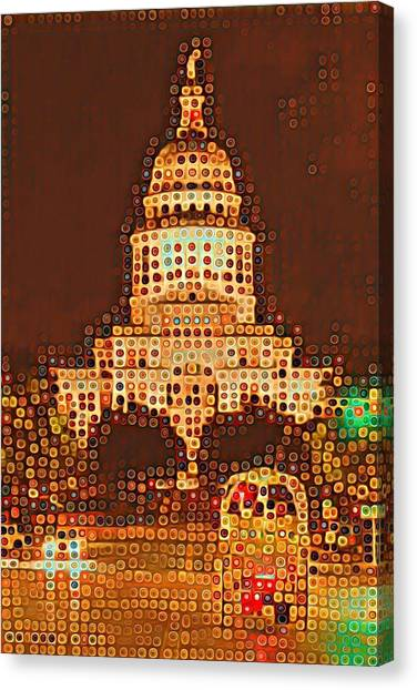 Austin Capitol At Night Canvas Print